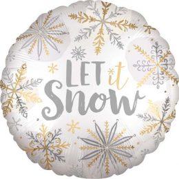 """Μπαλόνι λαμπερό """"Let it Snow"""" 45 εκ."""