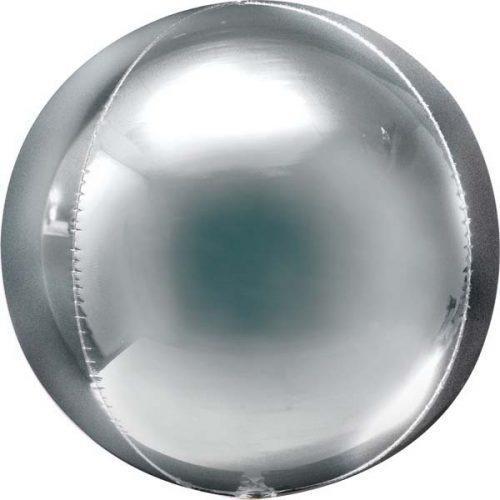 Μπαλόνι μεγάλο ασημί τρισδιάστατη σφαίρα 53 εκ.