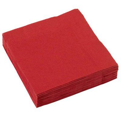 Χαρτοπετσέτες μικρές κόκκινες (20 τεμ)