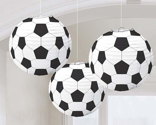Χάρτινα φαναράκια Ποδόσφαιρο (3 τμχ)