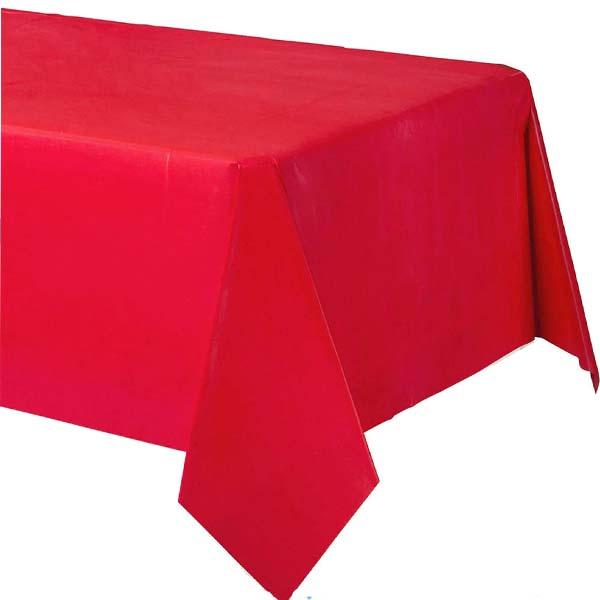 Τραπεζομάντηλο πλαστικό κόκκινο 2,74μ