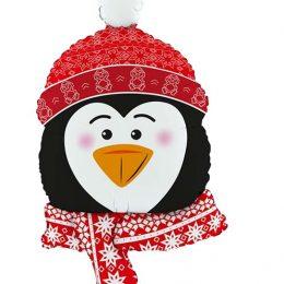 Μπαλόνι γλυκός Πιγκουίνος κεφάλι 86 εκ.