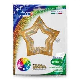 Μπαλόνι χρυσό linky αστέρι 122 εκ.