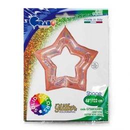 Μπαλόνι rosegold linky αστέρι 122 εκ.