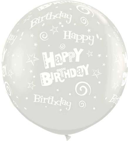 """36"""" μπαλόνι τυπωμένο διάφανο Happy Birthday"""