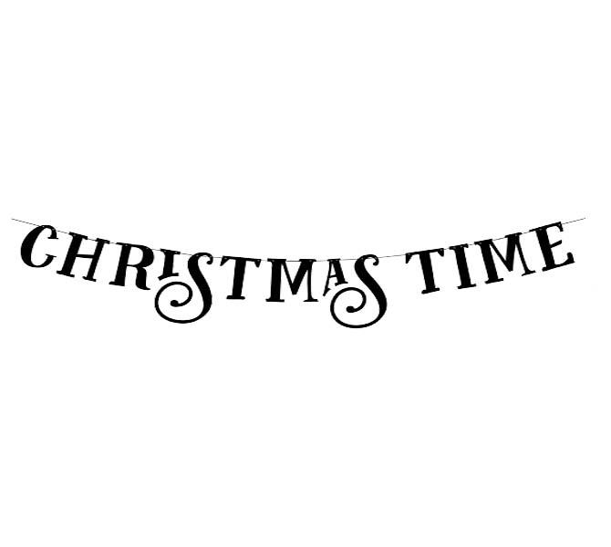 """Διακοσμητικό μπάνερ """"Christmas Time"""""""