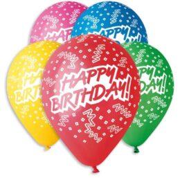 12″ Μπαλόνι Happy Birthday σε 5 χρώματα