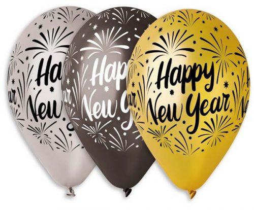 """Χριστουγεννιάτικο μπαλόνι """"Happy New Year"""" σε 3 αποχρώσεις"""