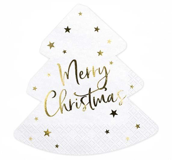 """Χαρτοπετσέτες Χριστουγεννιάτικο δέντρο 'Merry Christmas"""""""