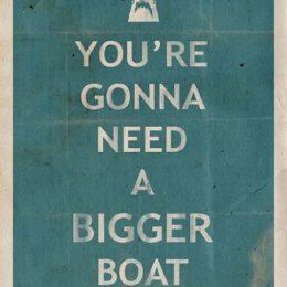 Αφίσα πάρτυ Baby Shark (σχέδιο 1)
