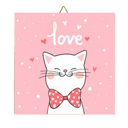 """Καδράκι Γατάκι """"Love"""""""