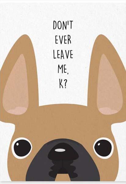Κάρτα πάρτυ Σκυλάκια (Σχέδιο 2)