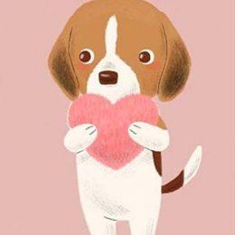 Κάρτα πάρτυ Σκυλάκια (Σχέδιο 4)