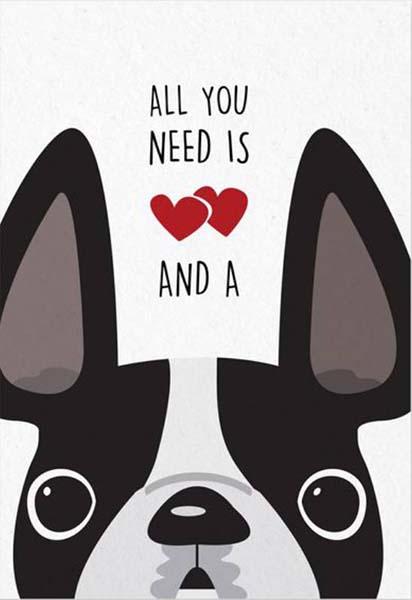 Κάρτα πάρτυ Σκυλάκια (Σχέδιο 5)