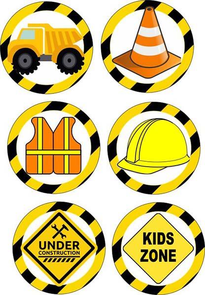 Σετ κονκάρδες Under Construction (6 τμχ)