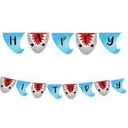 """Σημαιάκια Baby Shark """"Happy Birthday"""" (13 τμχ)"""