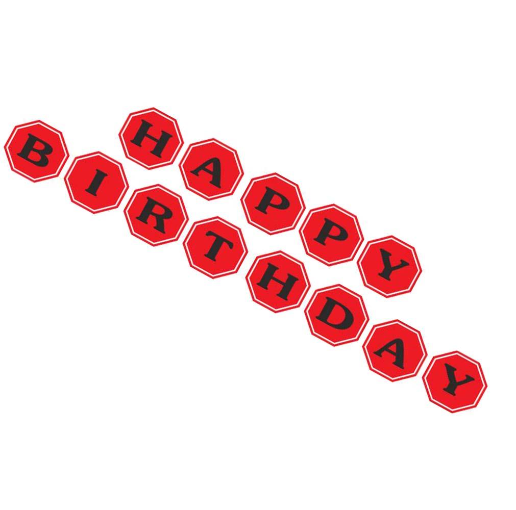 """Σημαιάκια Under Construction """"Happy Birthday"""""""