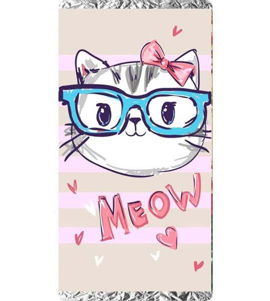 """Σοκολάτα Γατούλα με γυαλιά """"Meow"""""""