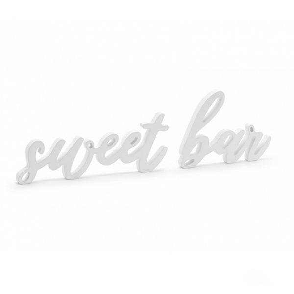 """Ξύλινο διακοσμητικό τραπεζιού λευκό """"Sweet Bar"""""""