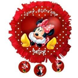 Πινιάτα Minnie Mouse κόκκινη