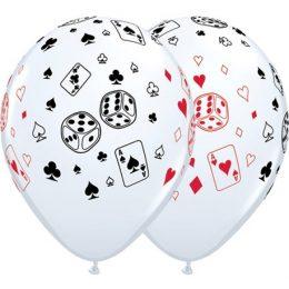 """12"""" Μπαλόνι τυπωμένο Poker"""
