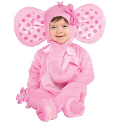 Στολή πάρτυ για παιδιά ροζ Ελεφαντάκι