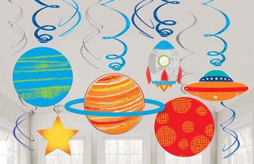 Διακοσμητικά οροφής Διάστημα (12 τμχ)
