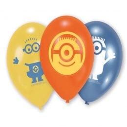 9″ Μπαλόνι τυπωμένο Minions (6 τεμ)