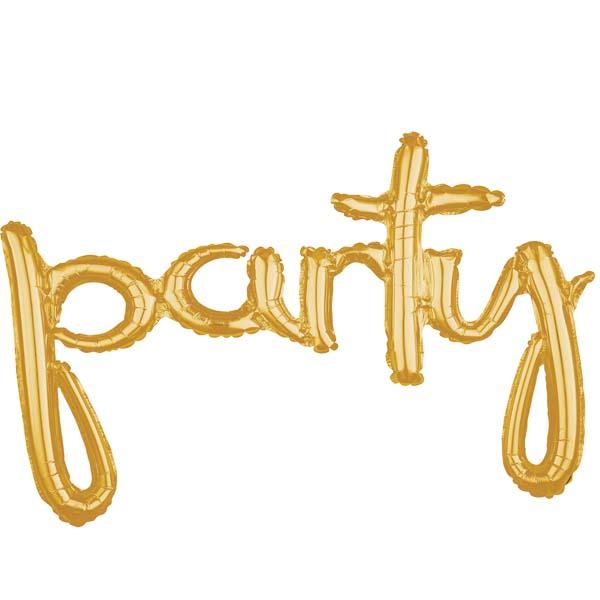 """Μπαλόνι """"Party"""" Χρυσό 93 εκ"""