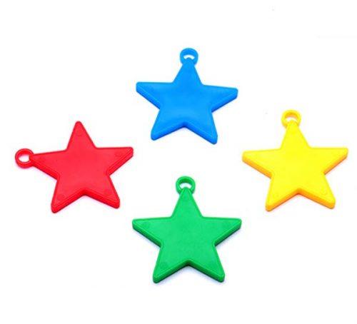 Βαράκια για μπαλόνια αστέρια διάφορα χρώματα (10 τεμ)