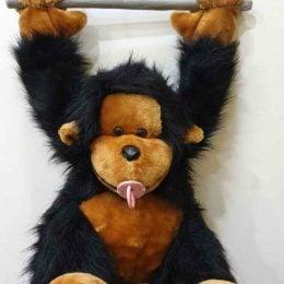 Λούτρινο μωρό χιμπατζής κρεμαστό σε 2 χρώματα 94 εκ.