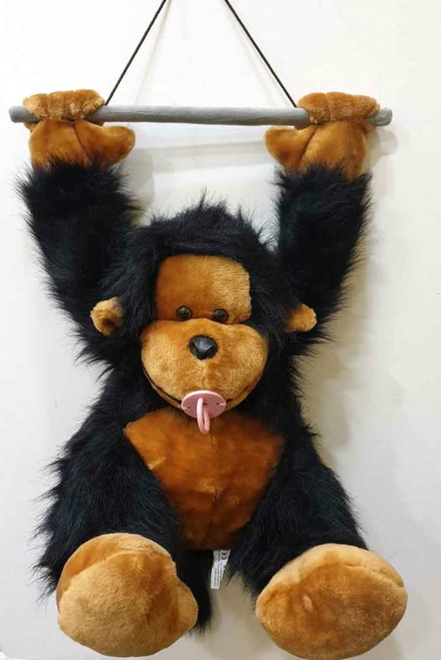 αρκουδάκια λούτρινα μεγάλα Λούτρινο μωρό χιμπατζής κρεμαστό σε 2 χρώματα 94 εκ.