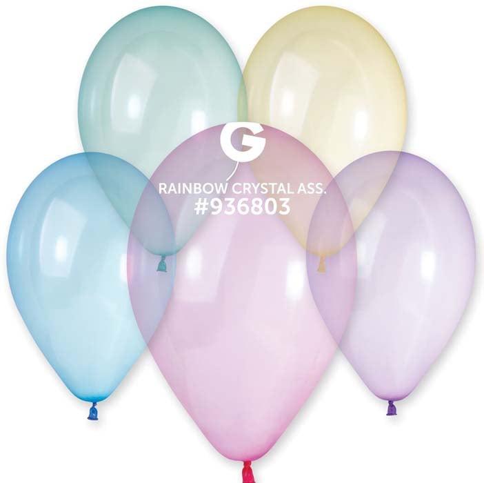 13″ Crystal Ουράνιο Τόξο λάτεξ μπαλόνι