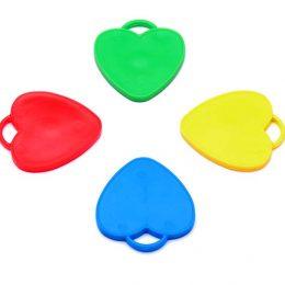 Βαράκια για μπαλόνια καρδιές διάφορα χρώματα (10 τεμ)