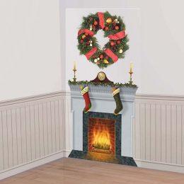 Χριστουγεννιάτικο σκηνικό τοίχου