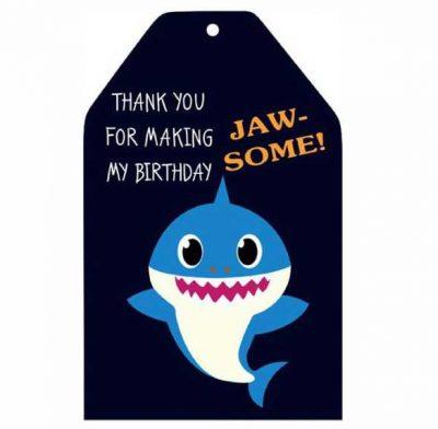 Ευχαριστήριο καρτάκι Baby Shark