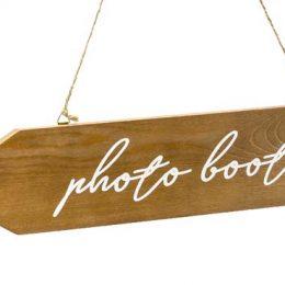 """Ξύλινη διακοσμητική ταμπέλα """"Photobooth"""""""