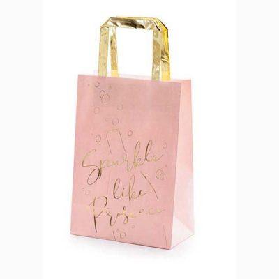 Σακουλίτσες για δωράκια ροζ Prosecco