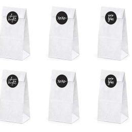 Σακουλίτσες με αυτοκόλλητο Shine Bright (6 τεμ)