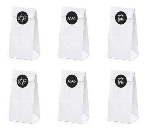 Σακουλίτσες με αυτοκόλλητο Shine, Bright (6 τεμ)