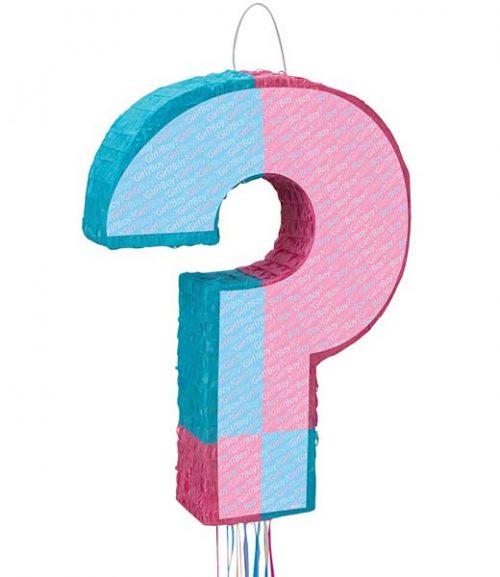 Πινιάτα πάρτυ ερωτηματικό boy or girl