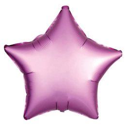 """Μπαλόνι σατέν ροζ αστέρι 18"""""""