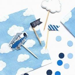 Χαρτοπετσέτες γαλάζιες με συννεφάκια (20 τεμ)