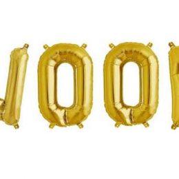 Μπαλόνι Woof 40 εκ χρυσό/ασημί/rosegold (4 τμχ)