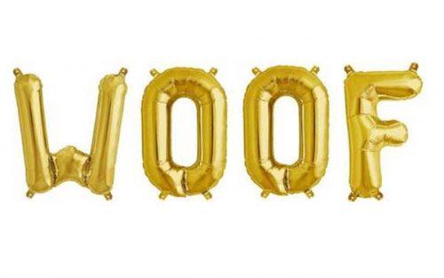 Μπαλόνι Woof χρυσό 40 εκ (4 τμχ)