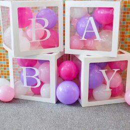 """Κουτιά διακόσμησης με αυτοκόλλητο """"BABY"""""""