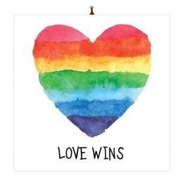 """Διακοσμητικό καδράκι Βαλεντίνου """"Love Wins"""""""