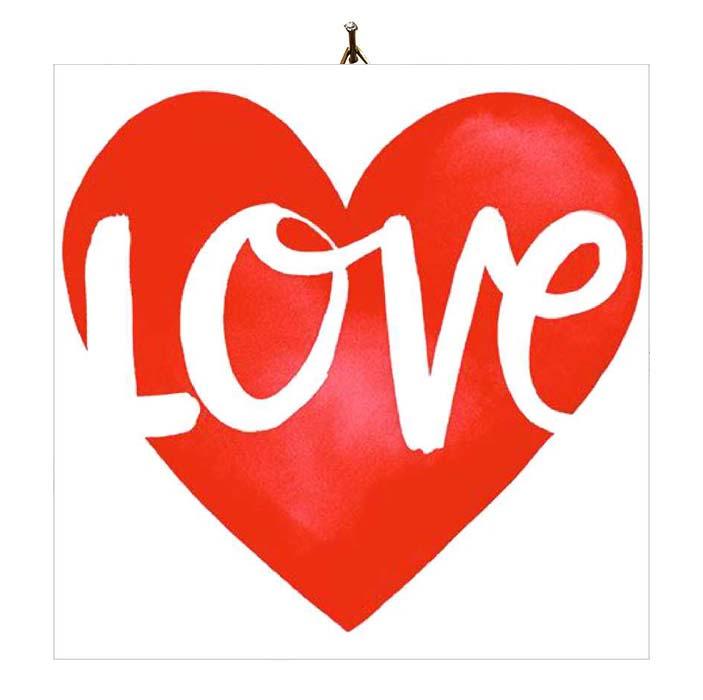 """Διακοσμητικό καδράκι Βαλεντίνου """"Καρδιά Love"""""""
