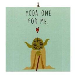 """Διακοσμητικό καδράκι Βαλεντίνου """"Love Yoda"""""""