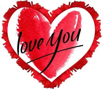 """Πινιάτα καρδιά """"Love you"""""""